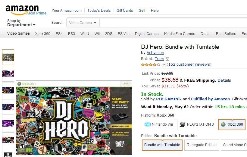 DJ Hero Bundle with Turntable-005