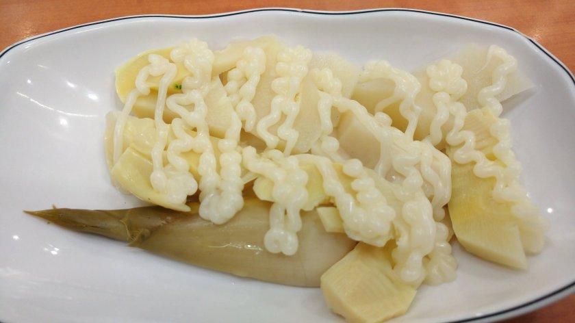 民主雞肉飯的白醋涼筍
