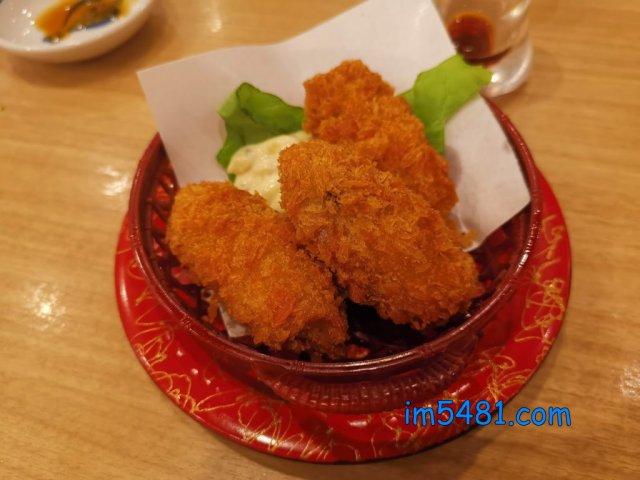 日本炸牡蠣配マヨネーズ
