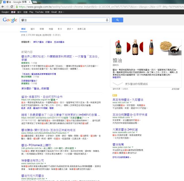 2015/08/21 醬油關鍵字搜尋