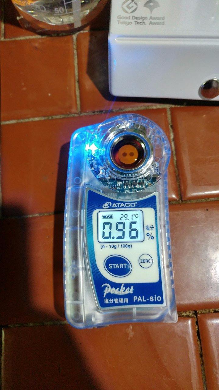 檢測醬油鹹度的設備 ATAGO アタゴ數位式鹽度計塩分計