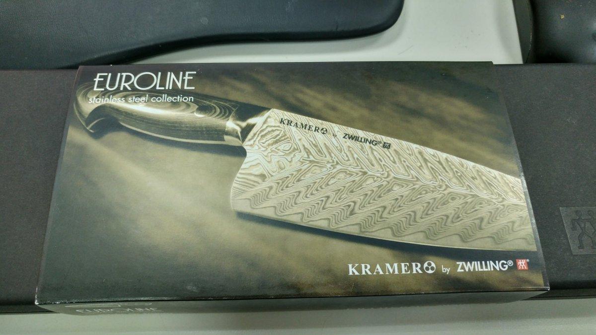 Kramer by Zwilling, 製刀大師Kramer授權雙人牌日本製8吋主廚刀入手!