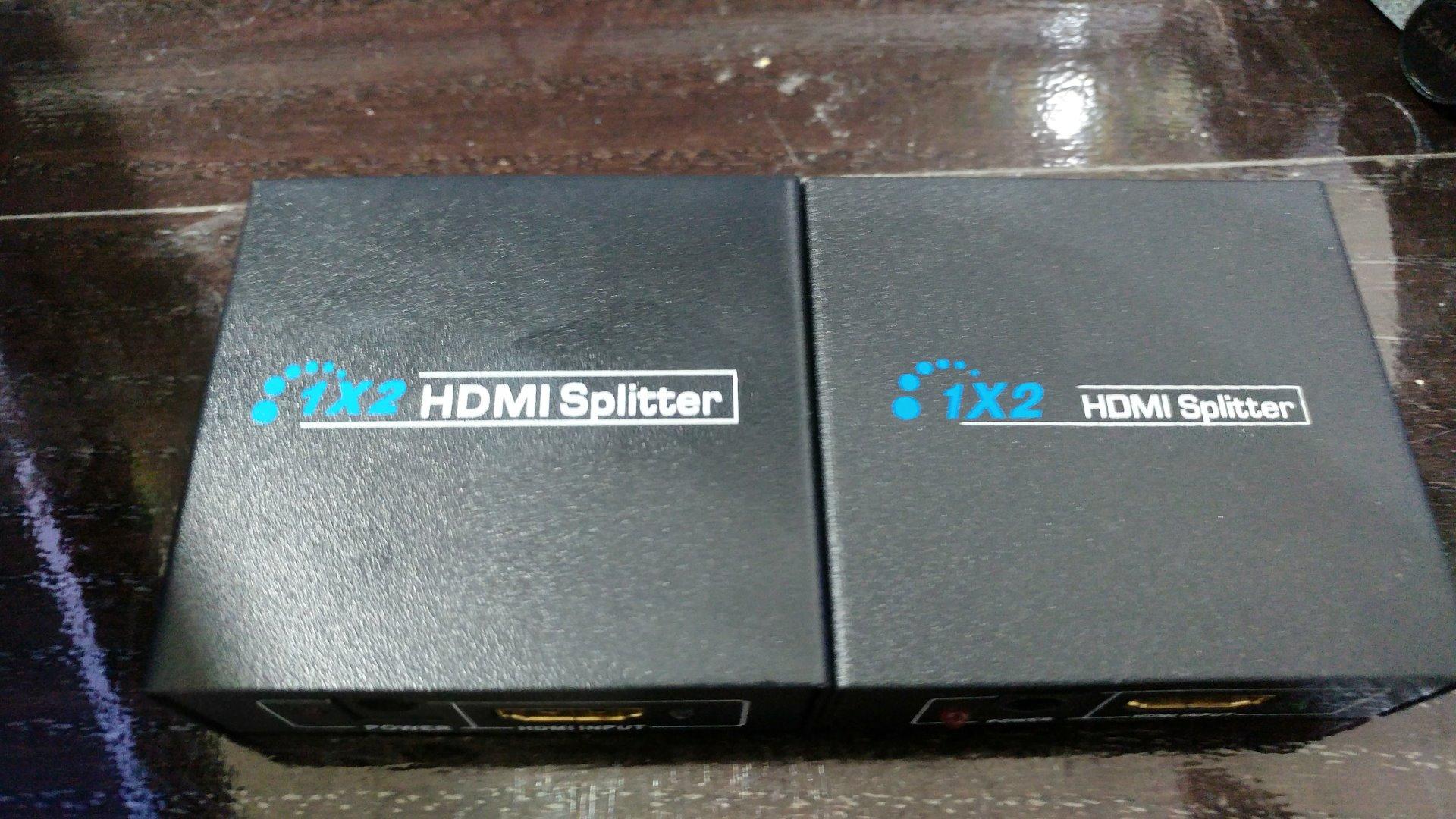 1 to 2 HDMI Splitter的上蓋差別