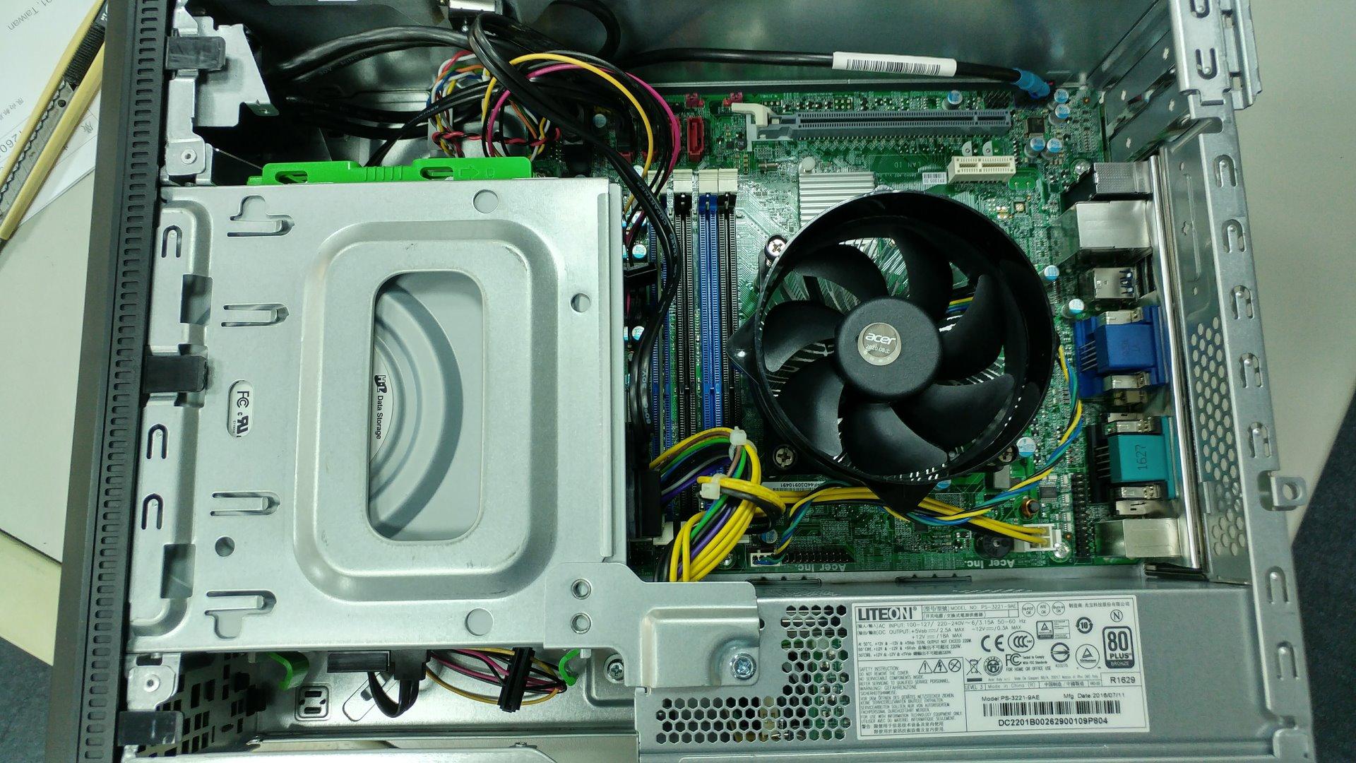 Acer Veriton VX4630G 主機機殼打開