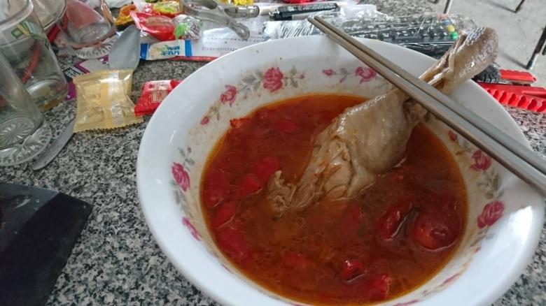 木鱉果煮雞湯