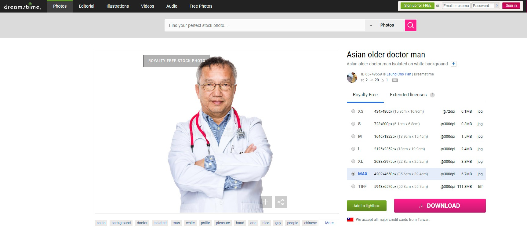 Asian Older Doctor Man Stock Photo - Image: 65749559