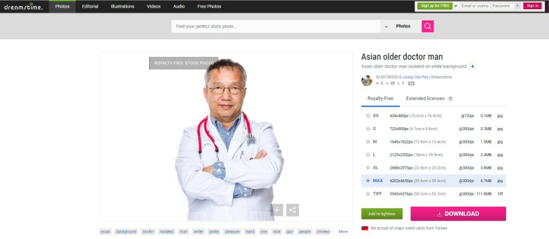 Asian Older Doctor Man Stock Photo - Image: 65749559