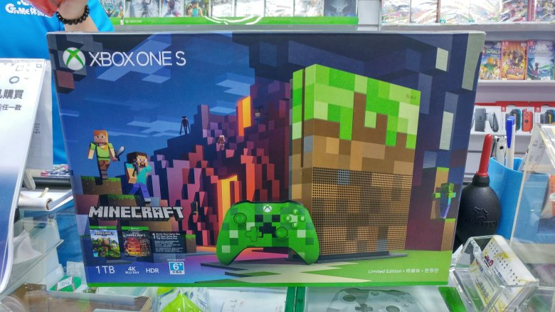 Xbox One S Minecraft 限量版主機