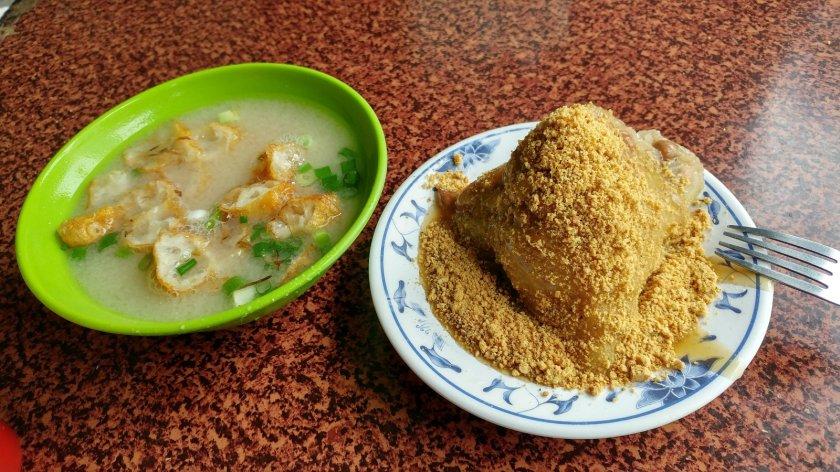 味噌湯跟菜粽