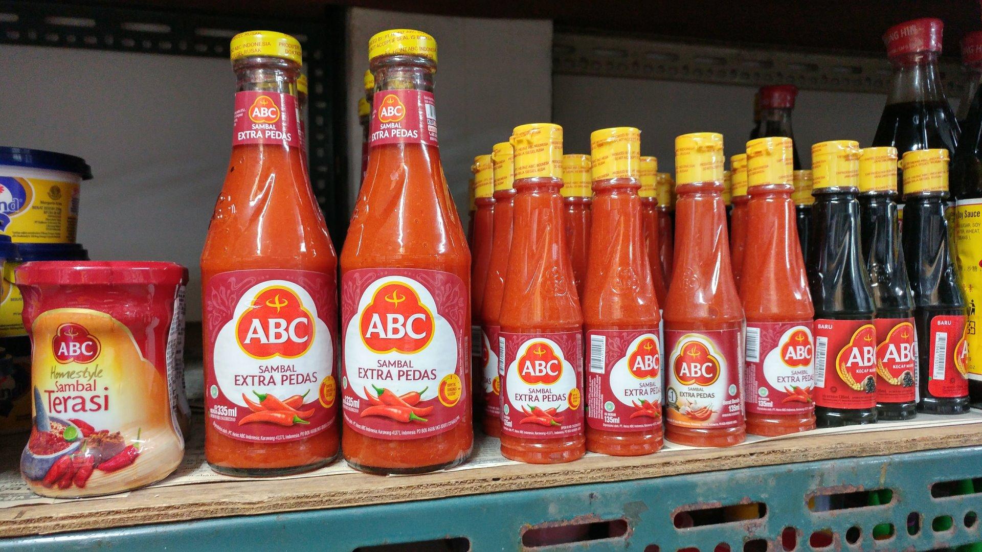 台灣可見的ABC 調味醬料,其中我最推薦ABC Sambal Extra Pedas