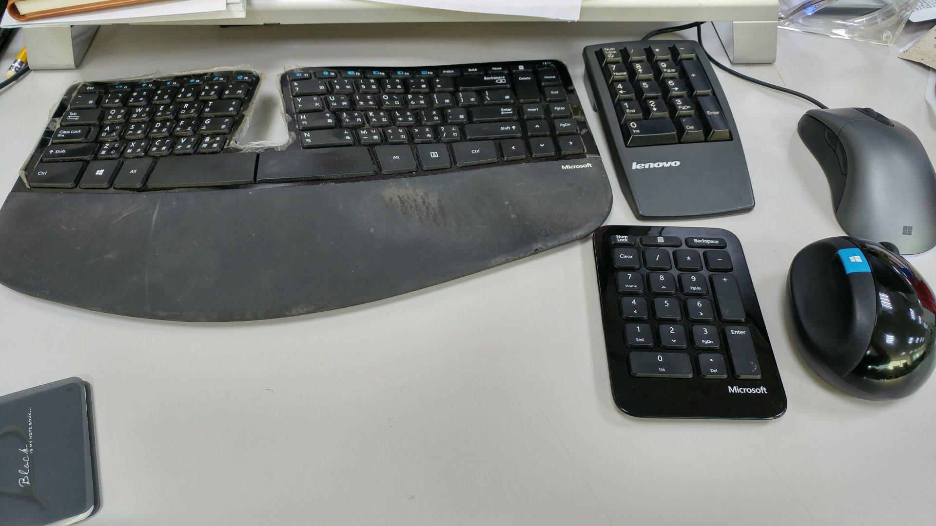 Microsoft Sculpt人體工學鍵鼠組