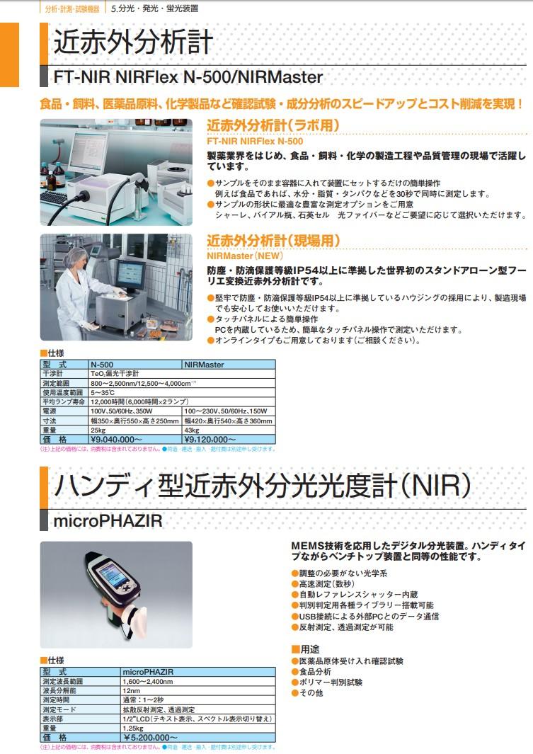 ハンディ型近赤外分光光度計(NIR)