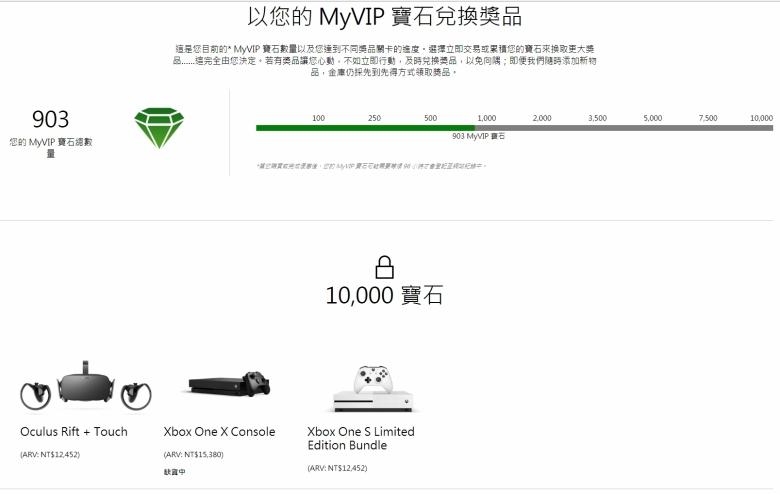 以您的 MyVIP 寶石兌換獎品