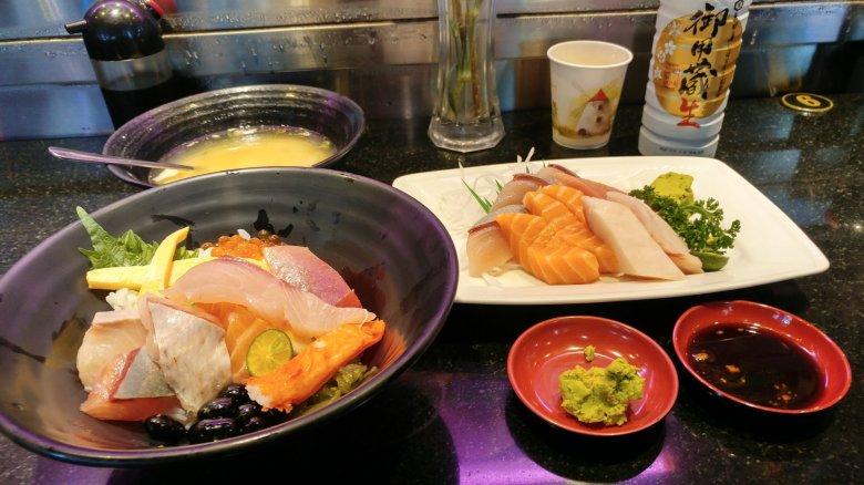 御用藏生跟生魚片丼飯、生魚片