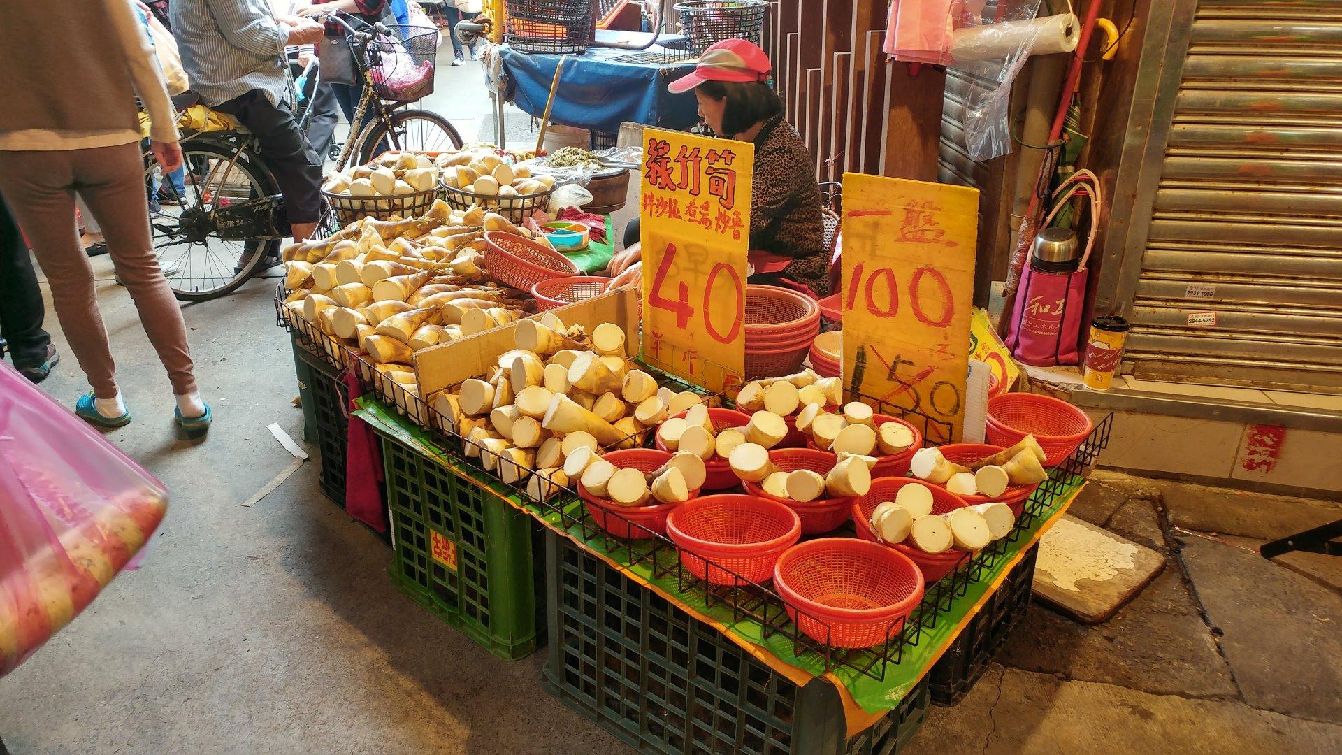 20180425 景美市場的竹筍攤