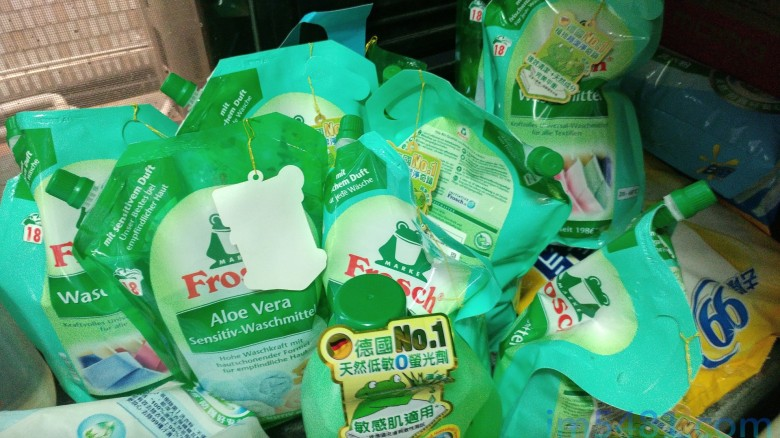 大量買進的Frosch小綠蛙洗衣精