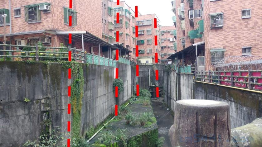 大慶大城擋土牆傾斜-示意圖