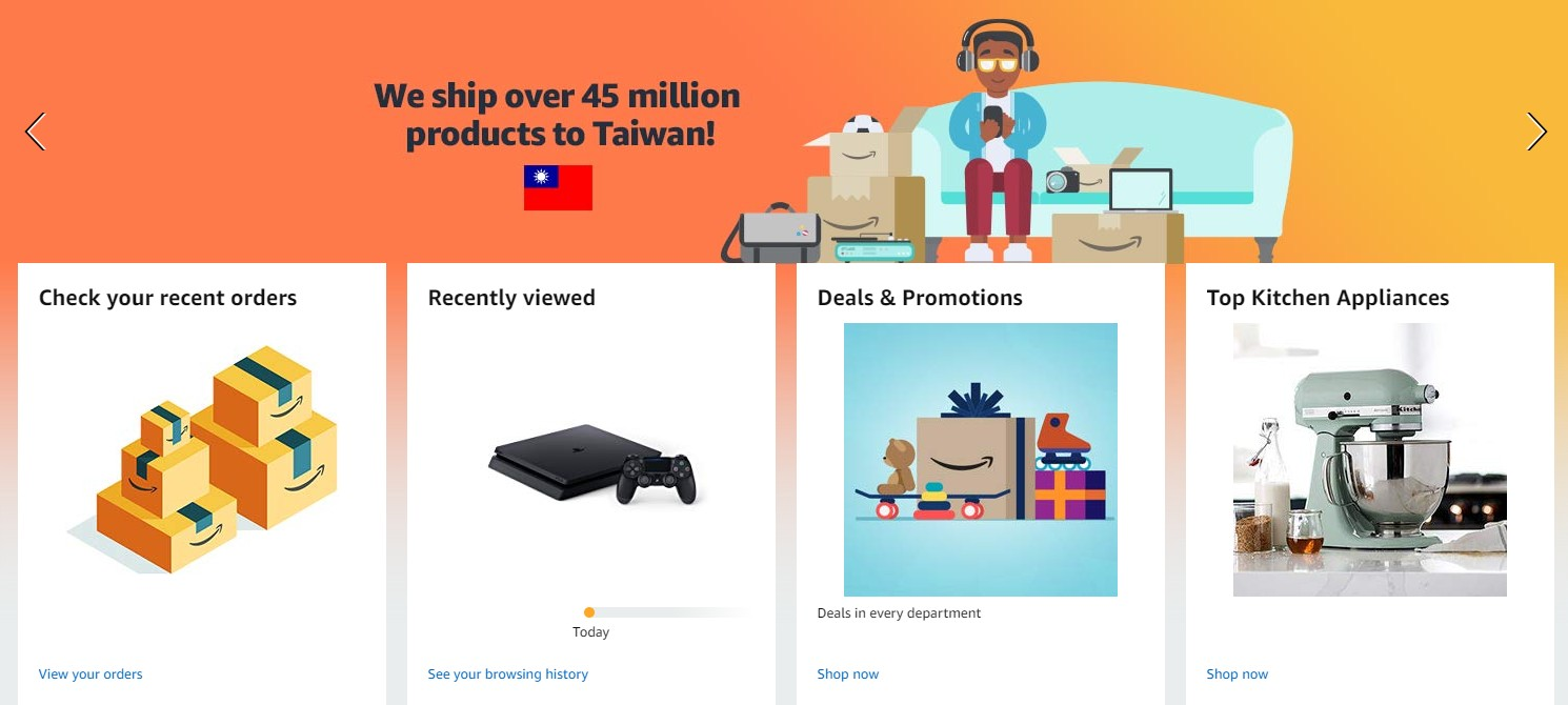 We Ship over 45 million products to Taiwan!