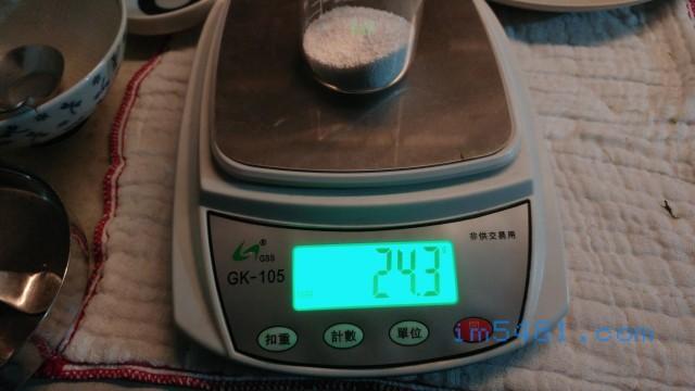 每咖啡匙的過碳酸鈉重量