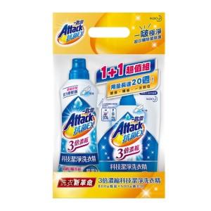 一匙靈 抗菌EX 3倍濃縮科技潔淨洗衣精