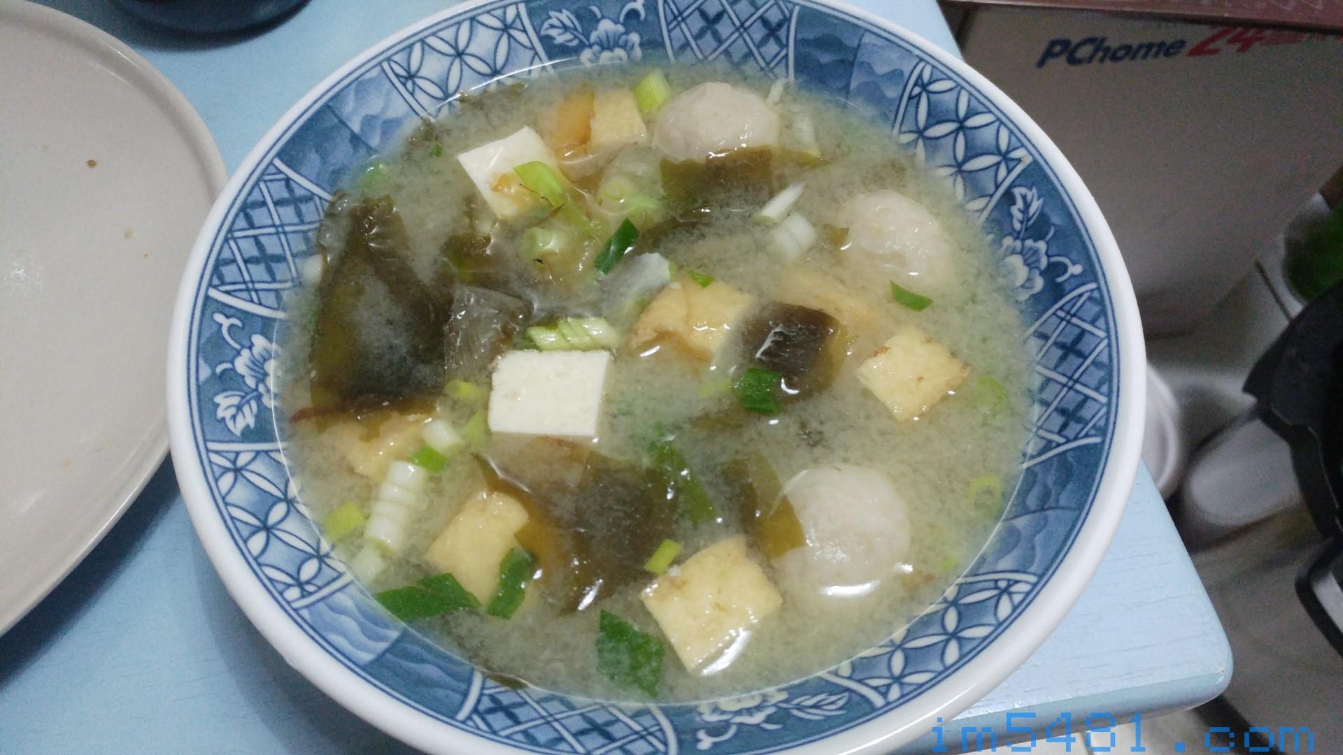 利用新禾昌柴魚花片煮好的味噌湯,鮮味十足!