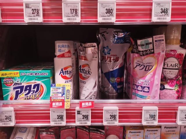 日本花王Attack ZERO在日本的零售價,瓶裝400g含稅386日幣,補充包360g 含稅321日幣