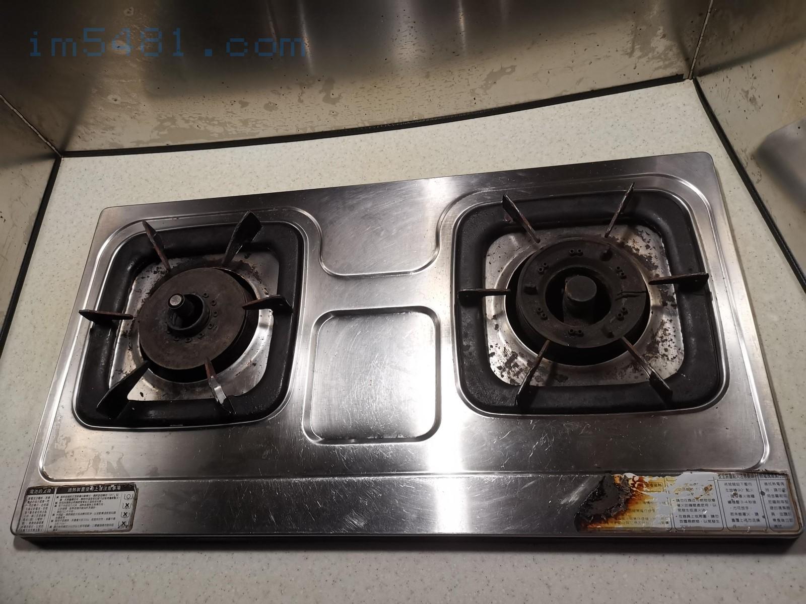 瓦斯爐檯面已經變乾淨