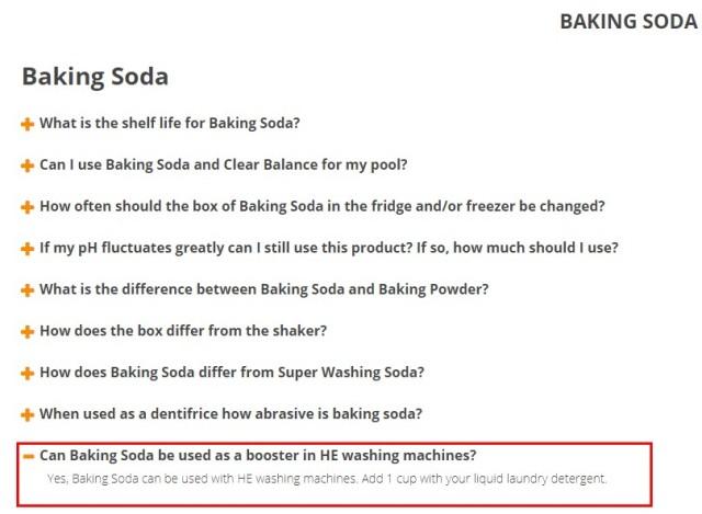 鐵鎚牌小蘇打建議加在洗衣機的建議用量為1 cup,卻沒有跟你的洗衣機使用水量做比較!