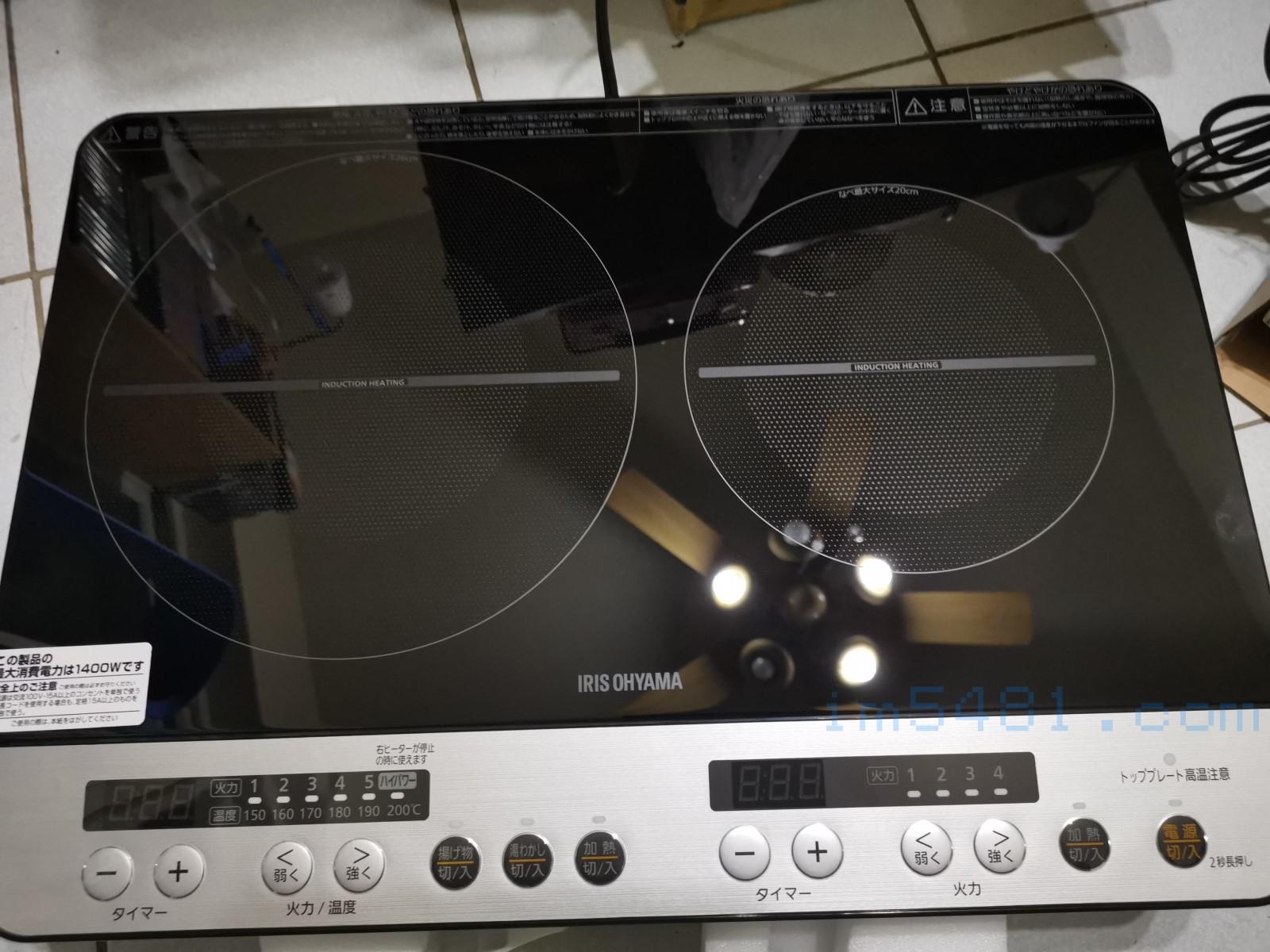 IHK-W12SP-B 雙口爐開箱-玻璃面板