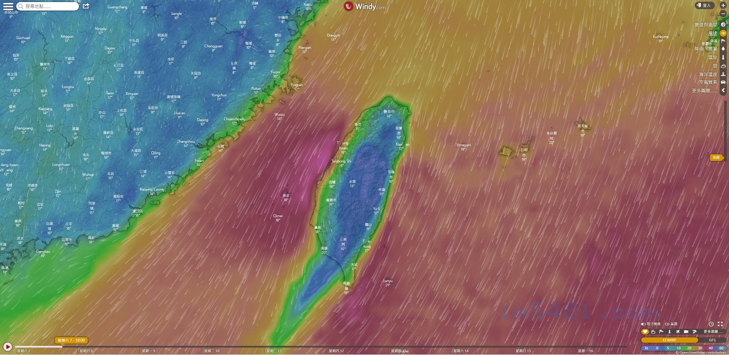 2019-12-07 台灣冬季狹管效應影響