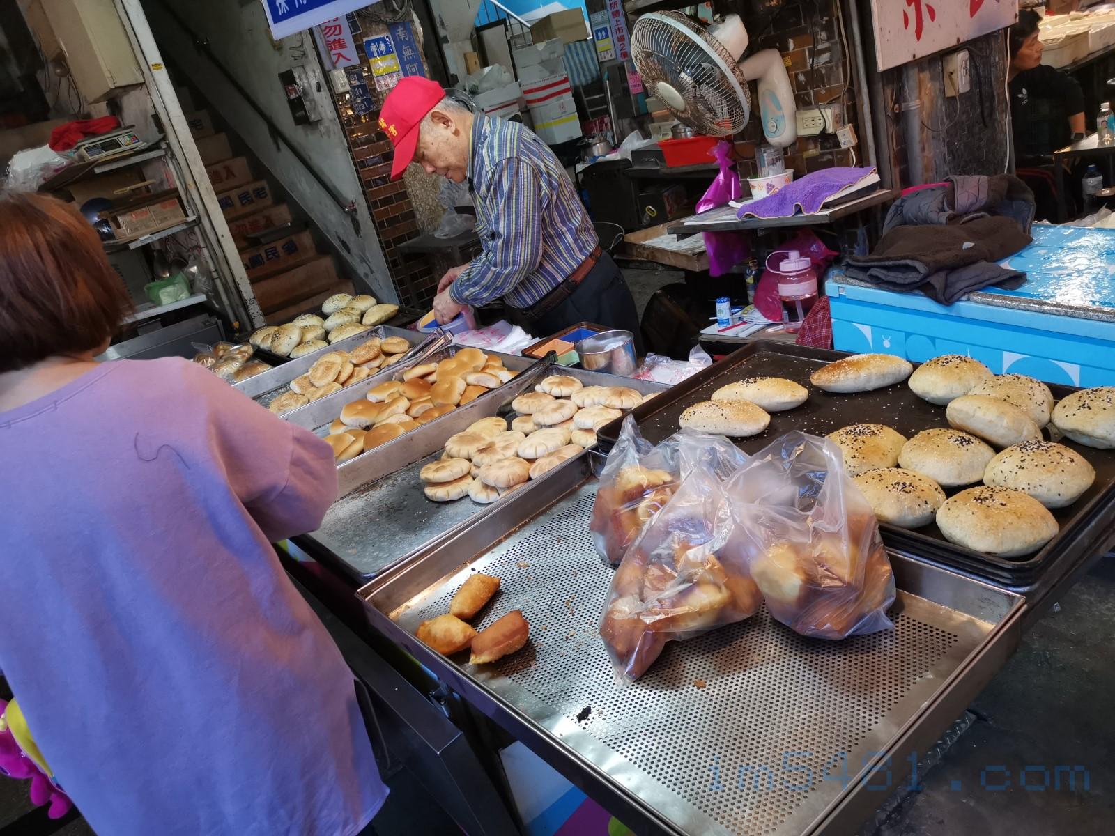 七堵鹹光餅-攤位