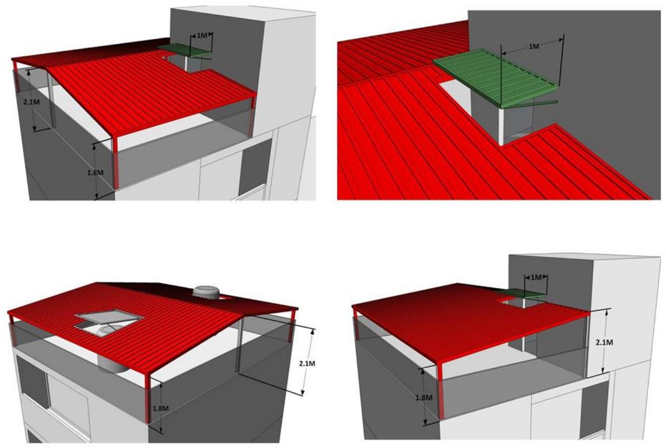 新北市老舊屋頂防漏雨棚示意圖