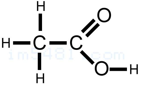 醋酸的化學架構