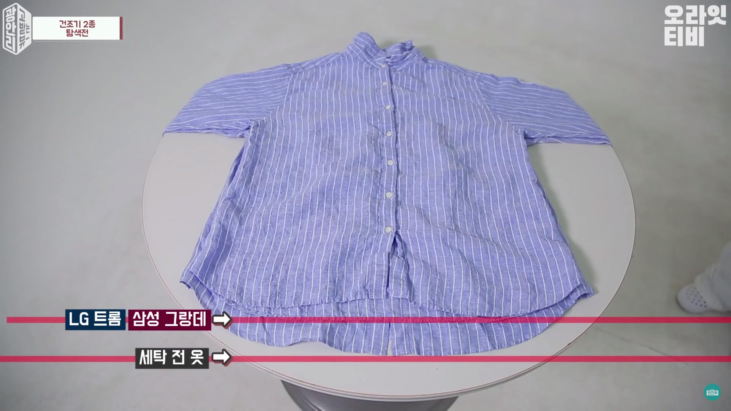襯衫測試 棉質t恤 測試,LG跟三星的縮水比較