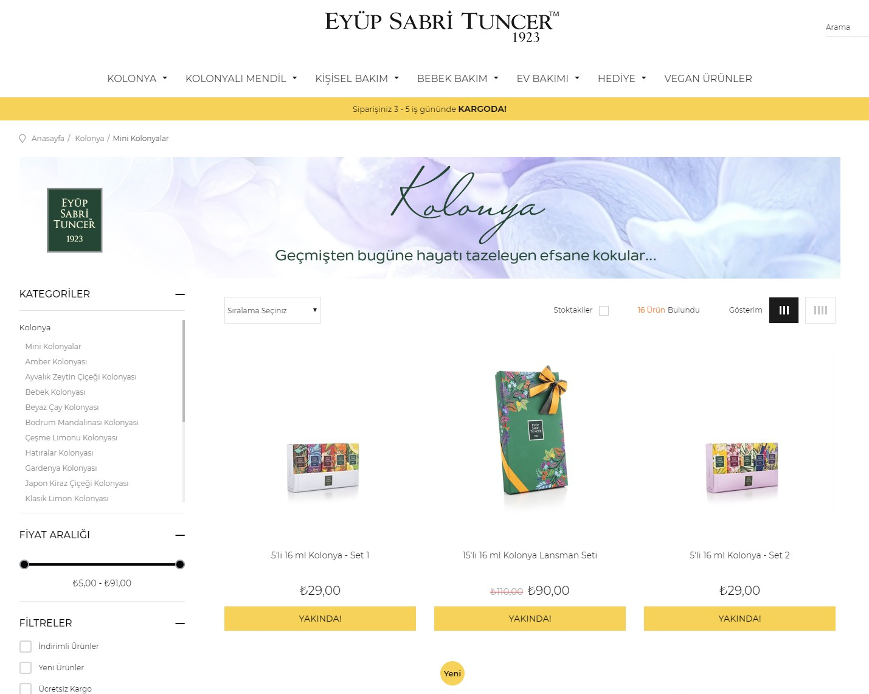 Eyup Sabri Tuncer mini Kolonya產品