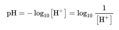 pH的計算公式