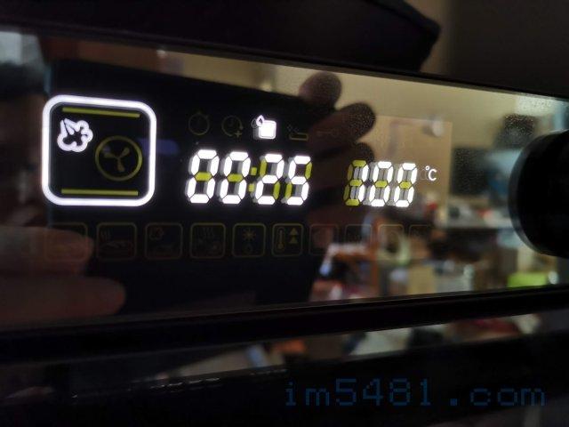 惠而浦蒸烤爐蒸地瓜的設定: 蒸25分鐘,溫度100度C