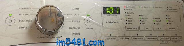 WFW85HEFW夏天常用洗衣模式: Wash Temp:Warm、Spin: Medium、Soil: Normal 、PerSoak: 30min